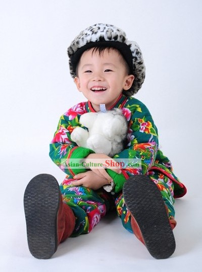Traditional Chinese Spring Festival Celebration Clothing for Boys