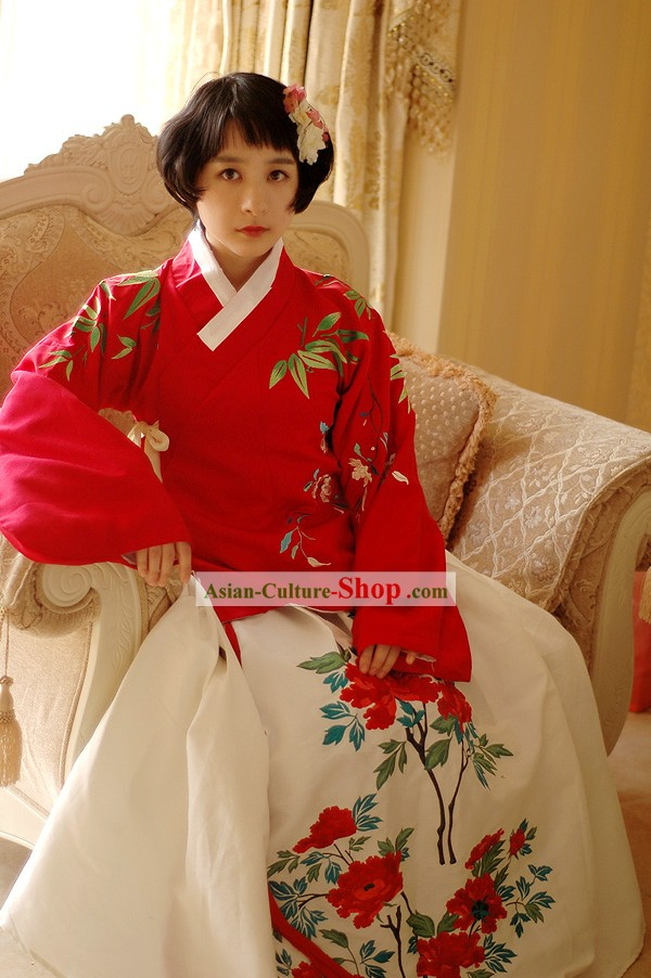Fine Chinese Hanfu Wedding Clothing for Women