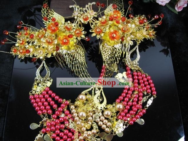 Traditional Chinese Phoenix Wedding Hair Ornaments Set