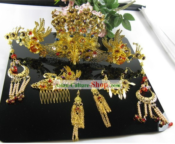 Ancient Chinese Style Phoenix Wedding Hair Accessories Set