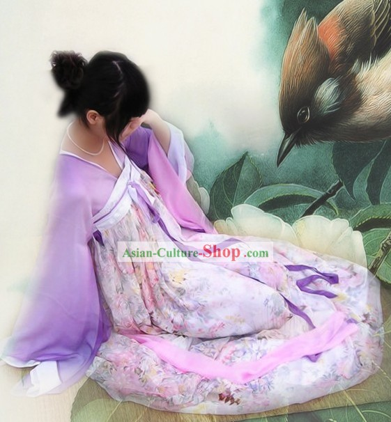 Ancient Chinese Tang Dynasty Female Garment Complete Set