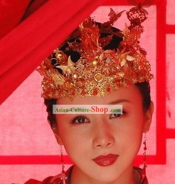 Ancient Chinese Royal Wedding Bride Phoenix Crown