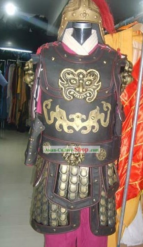 Ancient Chinese General Armor Costumes and Helmet