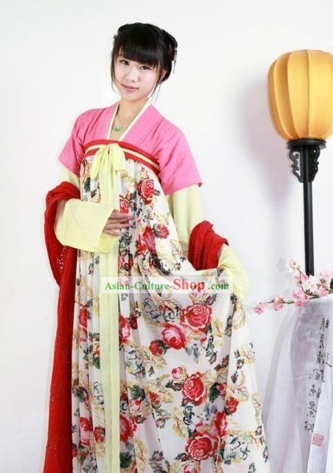 Ancient Chinese Tang Dynasty Palace Girl Costumes