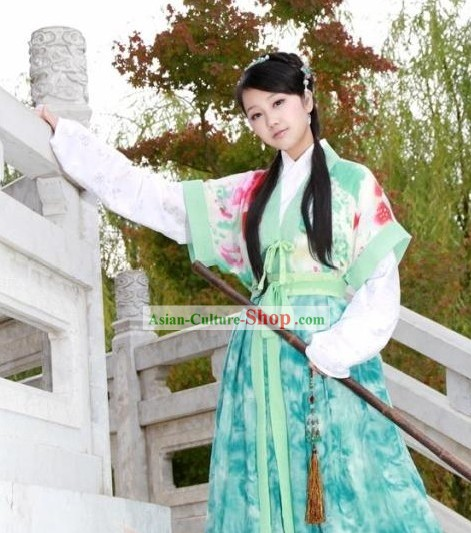 Ancient Chinese Swordswoman Costumes Complete Set