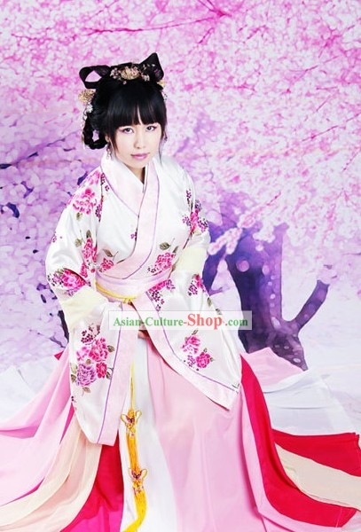 Ancient Chinese Princess Hanfu Clothing Complete Set
