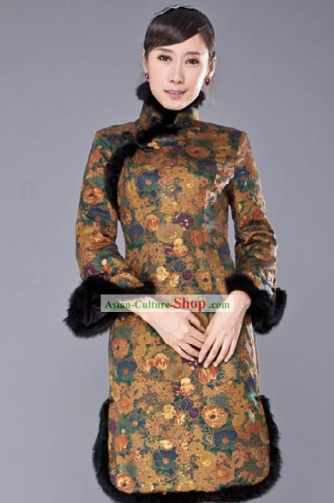 Traditional Chinese Long Sleeve Qipao for Women