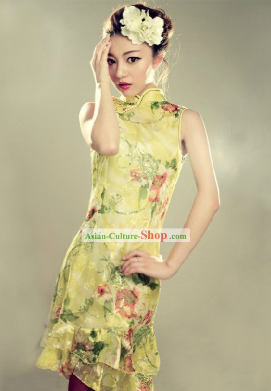 Traditional Chinese New Year Mandarin Cheongsam