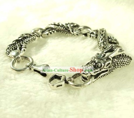 Miao Silver Dragon Bracelet for Birthday