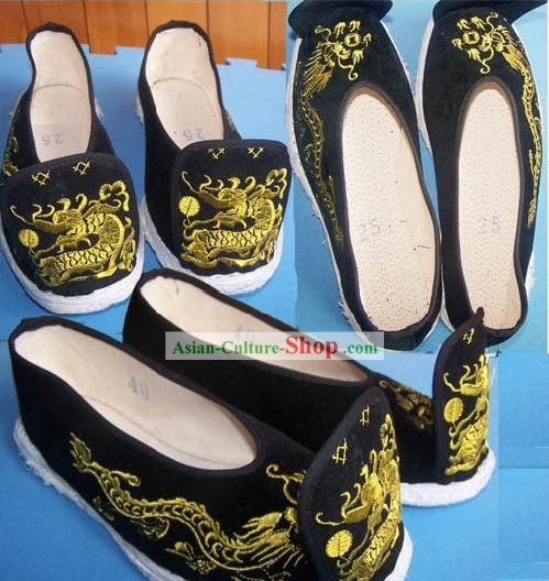 Chinese Classical Hand Made Hanfu Dragon Shoes