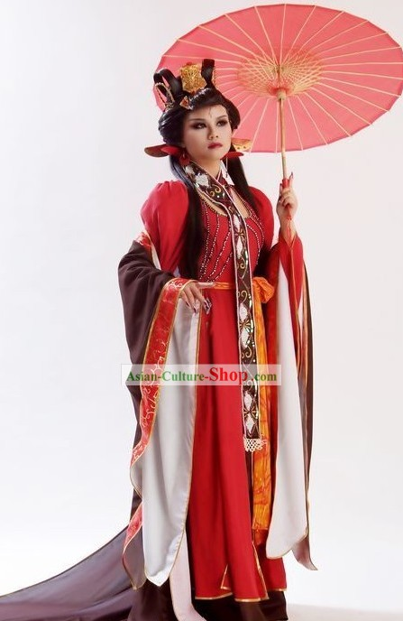 Chinese Ancient Princess Clothing and Hair Ornaments Set