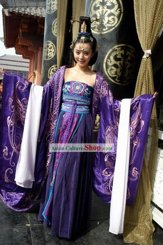 Ancient Chinese Imperial Daji Concubine Costumes Complete Set
