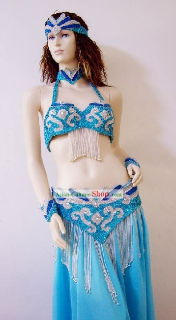 Top Competition Belly Dance Costume Complete Set for Women