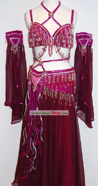 Indian Belly Dance Costumes Complete Set for Women