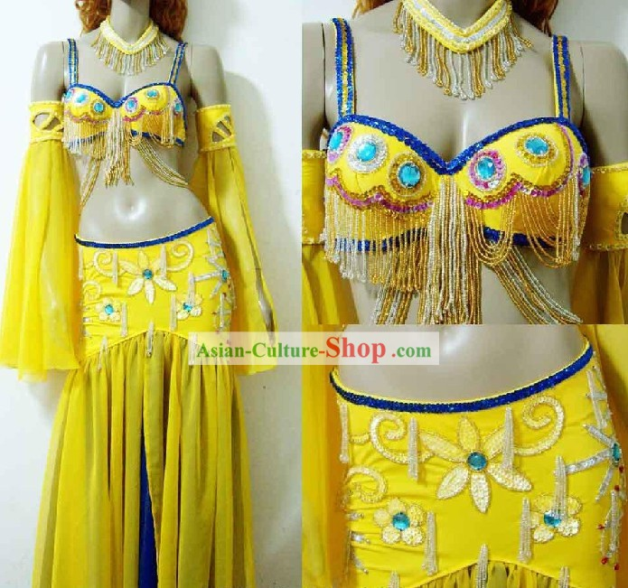 Egytian Belly Dance Costumes Complete Set for Women