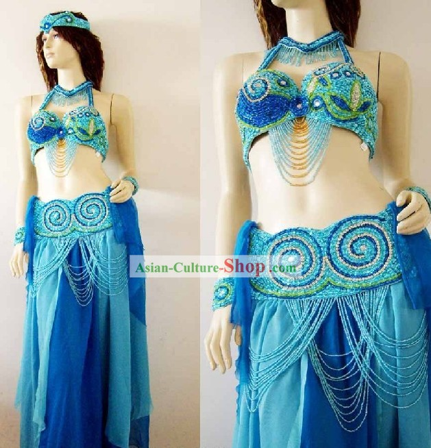 Modern Belly Dance Costumes Complete Set for Women