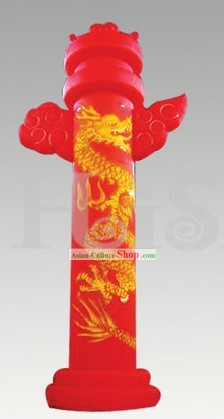 Traditional Large Chinese Inflatable Dragon Cloud Pillar