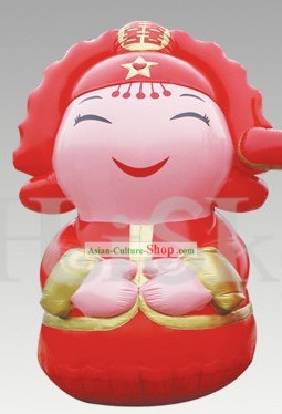 Traditional Large Chinese Inflatable Cartoon Bride Doll