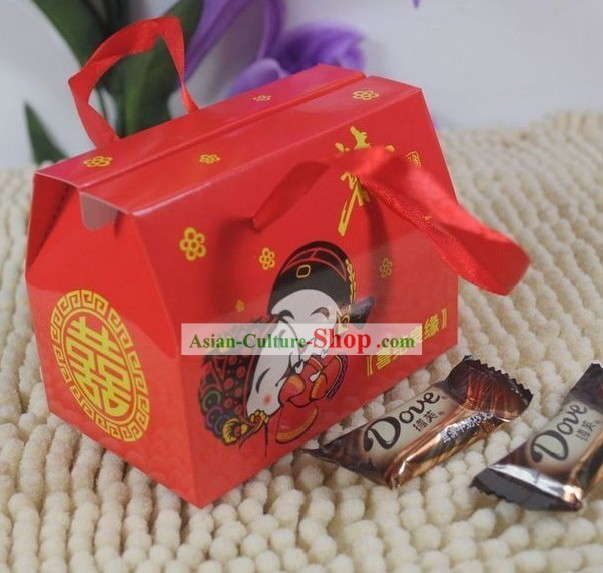 Traditional Chinese Wedding Sugar Box 100 Pieces Set