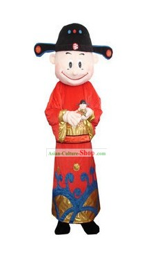 Chinese Cai Shen Mascot Costumes Complete Set