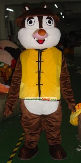 Chinese Uniform Squirrel Mascot Costumes Complete Set