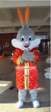 Chinese Tang Suit Rabbit Mascot Costumes Complete Set