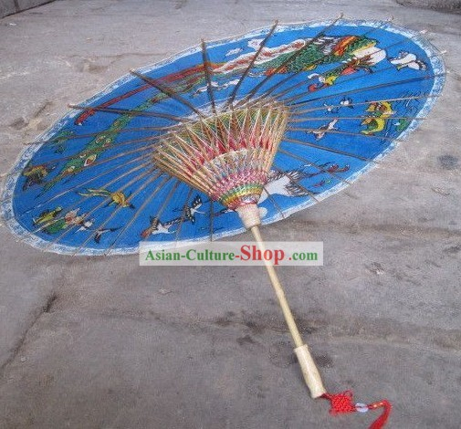 Chinese Hand Made Waterproof Sun Decoration Umbrella