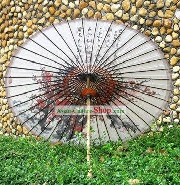 Chinese Hand Made Plum Blossom Umbrella