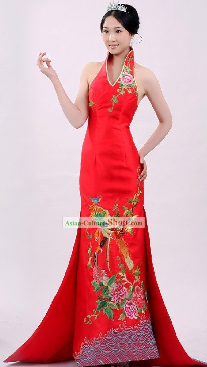 Stunning Chinese Wedding Phoenix Evening Dress