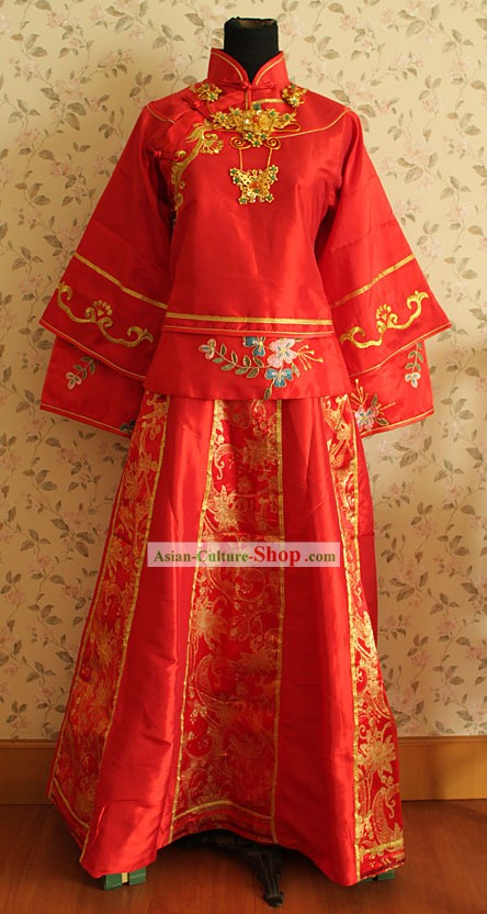 Traditional Chinese Wedding Dress for Bride