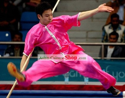 Wushu Silk Competition Clothing Set for Men