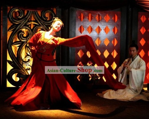 Chinese Red Cliff Film Xiao Qiao Costumes Complete Set
