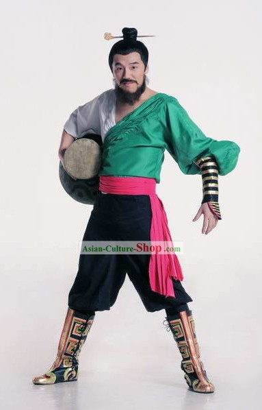 Chinese Drummer Dance Costumes Complete Set