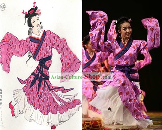 Chinese Classical Dancing Hanfu Costumes for Women