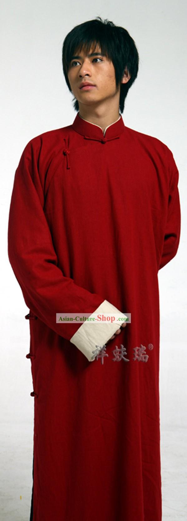 Traditional Chinese Famous Time-honored Rui Fu Xiang Minguo Wedding Robe for Men