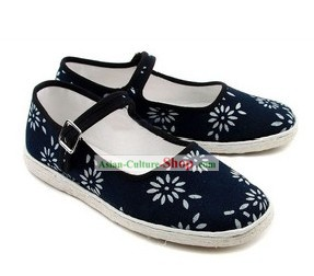 Chinese Handmade Bu Ying Zhai Cloth Shoes for Women