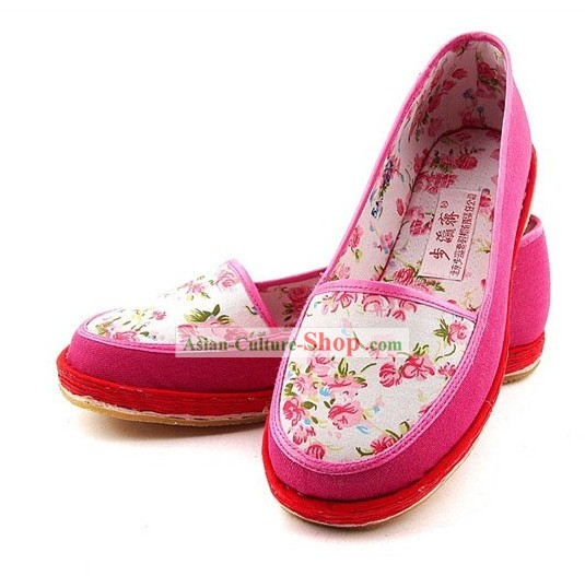Chinese Classic Handmade Bu Ying Zhai Cloth Shoes for Women