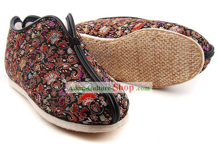 Chinese Handmade Bu Ying Zhai Winter Cotton Shoes