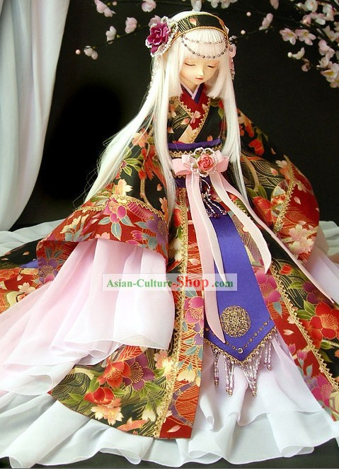 Traditional Japanese Kimono Costumes and Hair Accessories for Women