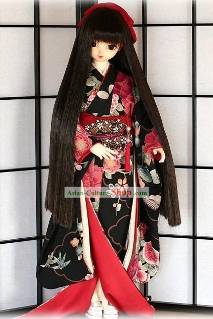 Traditional Japanese Kimono Dress Complete Set for Women