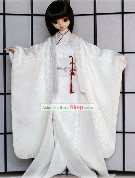 Traditional Japanese Kimono Dress Complete Set