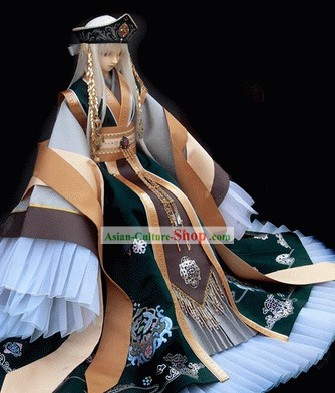 Traditional Japanese Emperor Kimono Set for Men