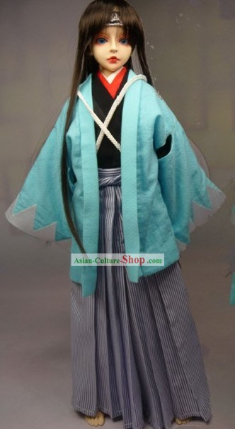 Traditional Japanese Samurai Costumes Complete Set for Men