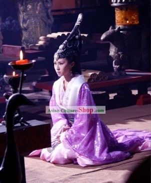 Chinese Qin Dynasty Qin Shi Huang's Empress Costumes and Headpiece Complete Set