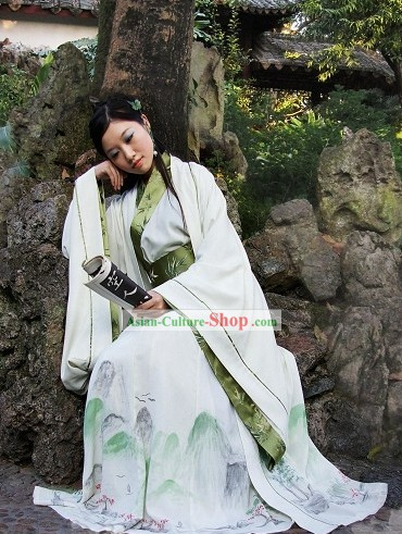 Hand Painted Zhiju Garment Informal Wear Clothing Full Set