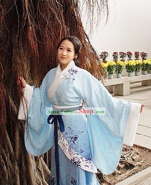 Hand Painted Quju Garment Hanzhuang Clothing for Women