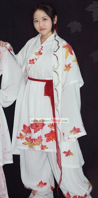 Traditional Chinese Hand Painted Hanfu Full Set