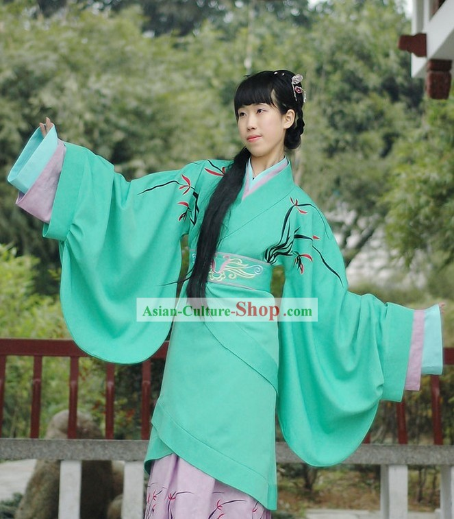 Chinese Han Dynasty Quju Garment full Set for Women