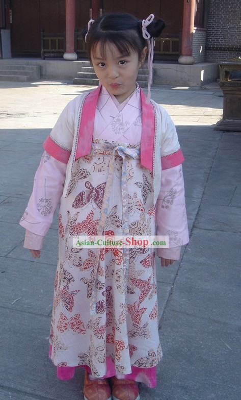 Chinese Tang Dynasty Hanfu Clothing Complete Set for Children