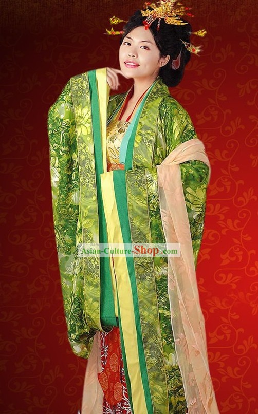Tang Dynasty Hanfu Wedding Ceremonial Clothing Full Set for Women